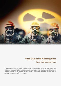 Radioactive Contamination Word Template, Cover Page, 02143, Military — PoweredTemplate.com