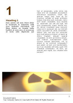 Radioactive Contamination Word Template, First Inner Page, 02143, Military — PoweredTemplate.com
