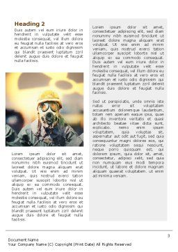 Radioactive Contamination Word Template, Second Inner Page, 02143, Military — PoweredTemplate.com