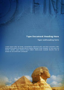 Sphinx Word Template, Cover Page, 02144, Flags/International — PoweredTemplate.com