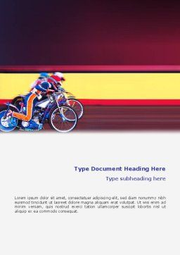 Motorcycle Sport Word Template, Cover Page, 02150, Sports — PoweredTemplate.com