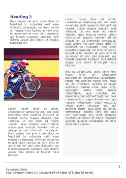 Motorcycle Sport Word Template, Second Inner Page, 02150, Sports — PoweredTemplate.com