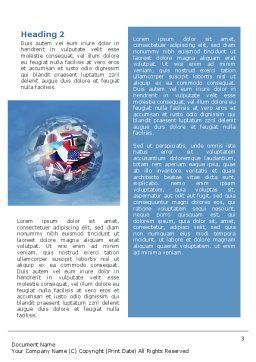 World Flags Word Template, Second Inner Page, 02153, Global — PoweredTemplate.com