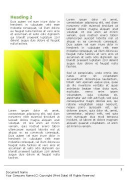 Yellow Petals Word Template Second Inner Page