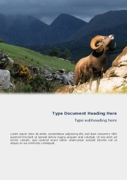 Mountain Word Template, Cover Page, 02157, Agriculture and Animals — PoweredTemplate.com