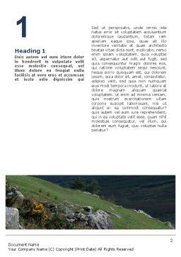 Mountain Word Template, First Inner Page, 02157, Agriculture and Animals — PoweredTemplate.com