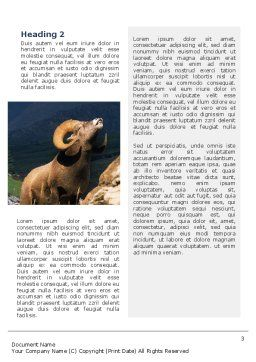 Mountain Word Template, Second Inner Page, 02157, Agriculture and Animals — PoweredTemplate.com