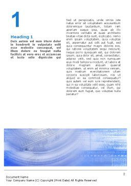 Digital Computing Technology Word Template, First Inner Page, 02160, Technology, Science & Computers — PoweredTemplate.com