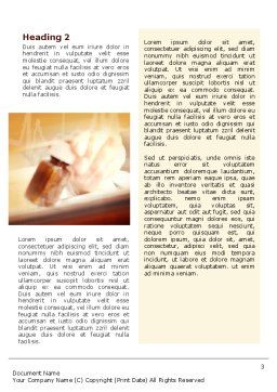 Medicine Prescription Word Template Second Inner Page