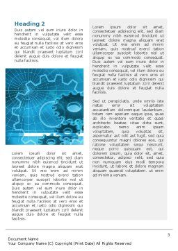 Telecommunication Systems Word Template, Second Inner Page, 02168, Telecommunication — PoweredTemplate.com