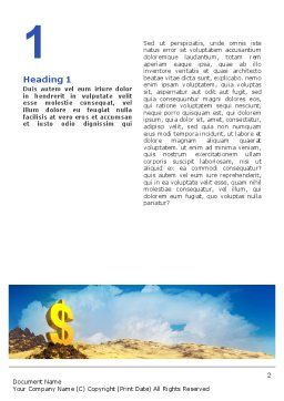 Dollar In Desert Word Template, First Inner Page, 02172, Financial/Accounting — PoweredTemplate.com
