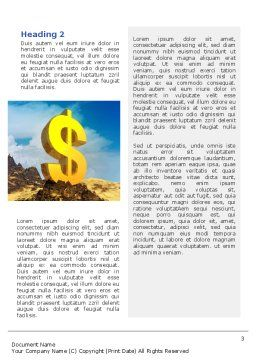 Dollar In Desert Word Template, Second Inner Page, 02172, Financial/Accounting — PoweredTemplate.com