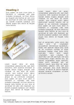 Happy Anniversary Word Template Second Inner Page