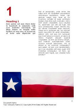 Flag of Texas Word Template, First Inner Page, 02181, Flags/International — PoweredTemplate.com