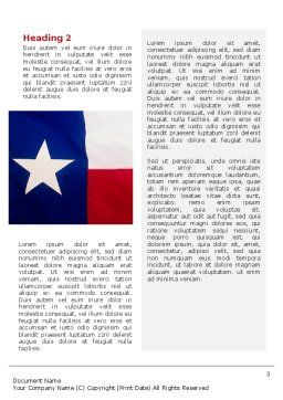 Flag of Texas Word Template, Second Inner Page, 02181, Flags/International — PoweredTemplate.com