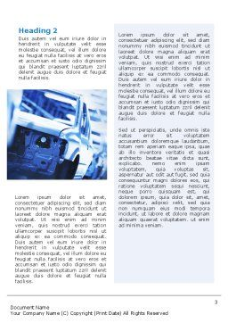 Car Manufacturing Word Template, Second Inner Page, 02182, Utilities/Industrial — PoweredTemplate.com
