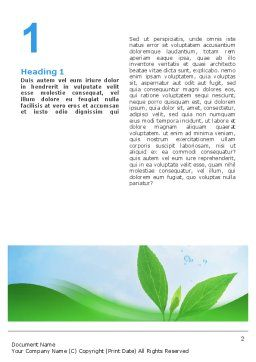 Pure Nature Word Template, First Inner Page, 02183, Nature & Environment — PoweredTemplate.com