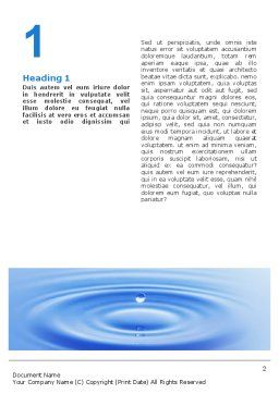 Water Purification Word Template, First Inner Page, 02190, Abstract/Textures — PoweredTemplate.com
