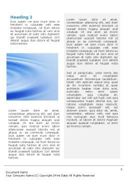 Water Purification Word Template, Second Inner Page, 02190, Abstract/Textures — PoweredTemplate.com