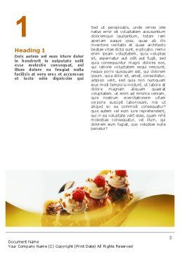 Banana Split Word Template, First Inner Page, 02192, Food & Beverage — PoweredTemplate.com