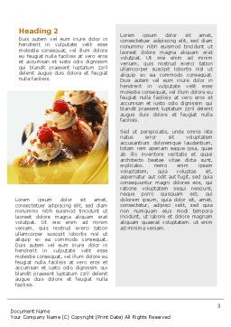 Banana Split Word Template, Second Inner Page, 02192, Food & Beverage — PoweredTemplate.com