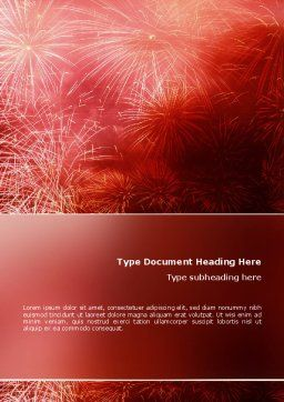Fireworks Word Template, Cover Page, 02193, Holiday/Special Occasion — PoweredTemplate.com