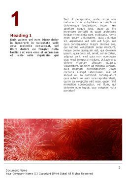 Fireworks Word Template, First Inner Page, 02193, Holiday/Special Occasion — PoweredTemplate.com