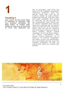 Musician Word Template First Inner Page