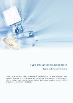 Broadcasting Word Template, Cover Page, 02196, Telecommunication — PoweredTemplate.com