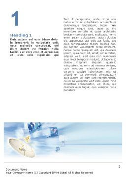 Broadcasting Word Template, First Inner Page, 02196, Telecommunication — PoweredTemplate.com