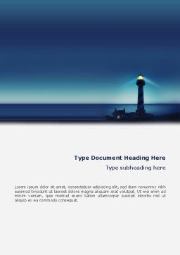 Lighthouse Word Template Cover Page
