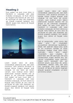 Lighthouse Word Template Second Inner Page