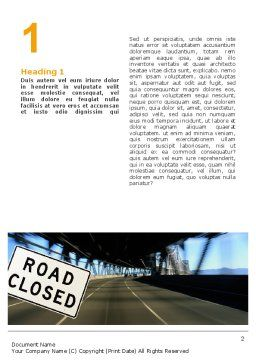 Road Sign Word Template First Inner Page