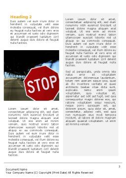 Road Sign Word Template, Second Inner Page, 02198, Education & Training — PoweredTemplate.com