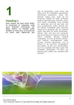 Technology Word Template First Inner Page
