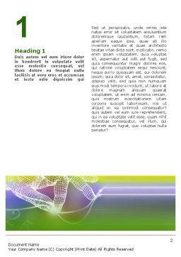 Technology Word Template, First Inner Page, 02203, Telecommunication — PoweredTemplate.com