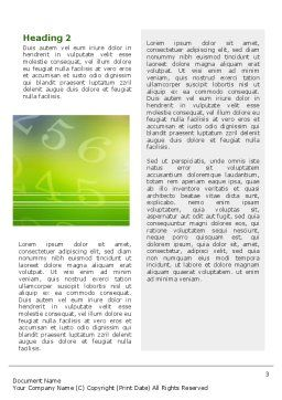 Technology Word Template, Second Inner Page, 02203, Telecommunication — PoweredTemplate.com