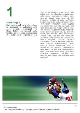 American Football Atlanta Falcons Word Template, First Inner Page, 02207, Sports — PoweredTemplate.com