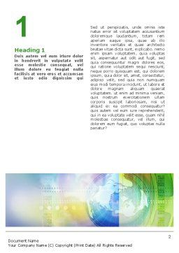 Clock Face Word Template, First Inner Page, 02210, Business — PoweredTemplate.com