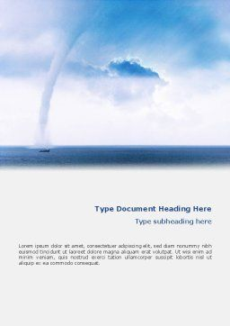 Waterspout Word Template Cover Page
