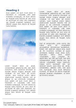 Waterspout Word Template Second Inner Page