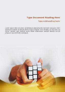 Puzzle Rubik's Cube Word Template, Cover Page, 02213, Business Concepts — PoweredTemplate.com