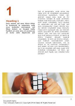 Puzzle Rubik's Cube Word Template, First Inner Page, 02213, Business Concepts — PoweredTemplate.com