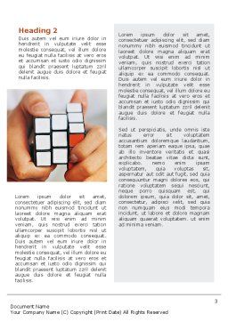 Puzzle Rubik's Cube Word Template, Second Inner Page, 02213, Business Concepts — PoweredTemplate.com