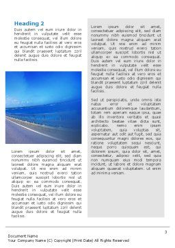 Highway In A Blue Distance Word Template, Second Inner Page, 02214, Construction — PoweredTemplate.com