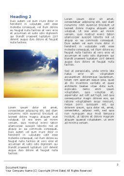 Blue Sky With Sunbeams Word Template, Second Inner Page, 02216, Religious/Spiritual — PoweredTemplate.com