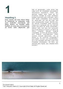 Baseball Ball And Bat Word Template, First Inner Page, 02220, Sports — PoweredTemplate.com