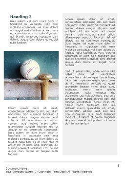 Baseball Ball And Bat Word Template, Second Inner Page, 02220, Sports — PoweredTemplate.com