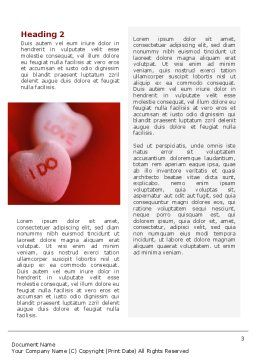 Love Candies Word Template, Second Inner Page, 02223, Holiday/Special Occasion — PoweredTemplate.com