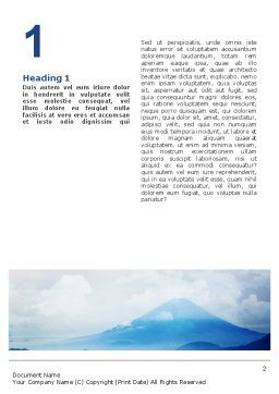 Fujiyama Word Template, First Inner Page, 02226, Nature & Environment — PoweredTemplate.com